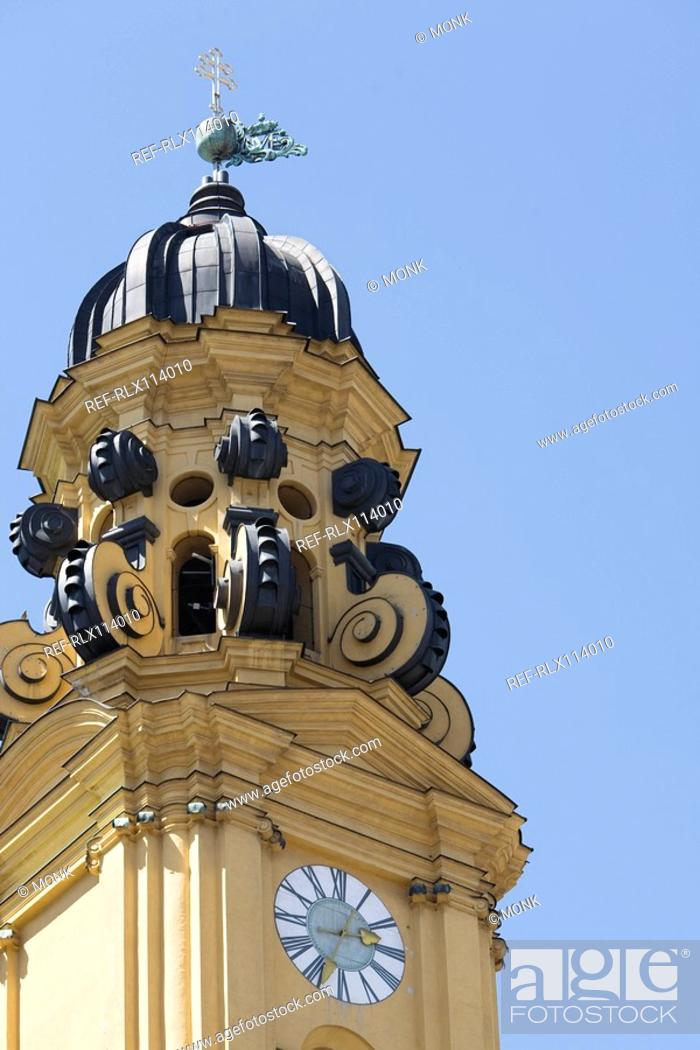 Stock Photo: Theatines church in Munich, Bavaria, Germany.