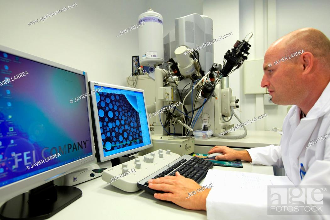 Stock Photo: The Quanta 3D FEG is the most versatile high-resolution, low vacuum SEM/FIB for 2D and 3D material characterization and analysis.