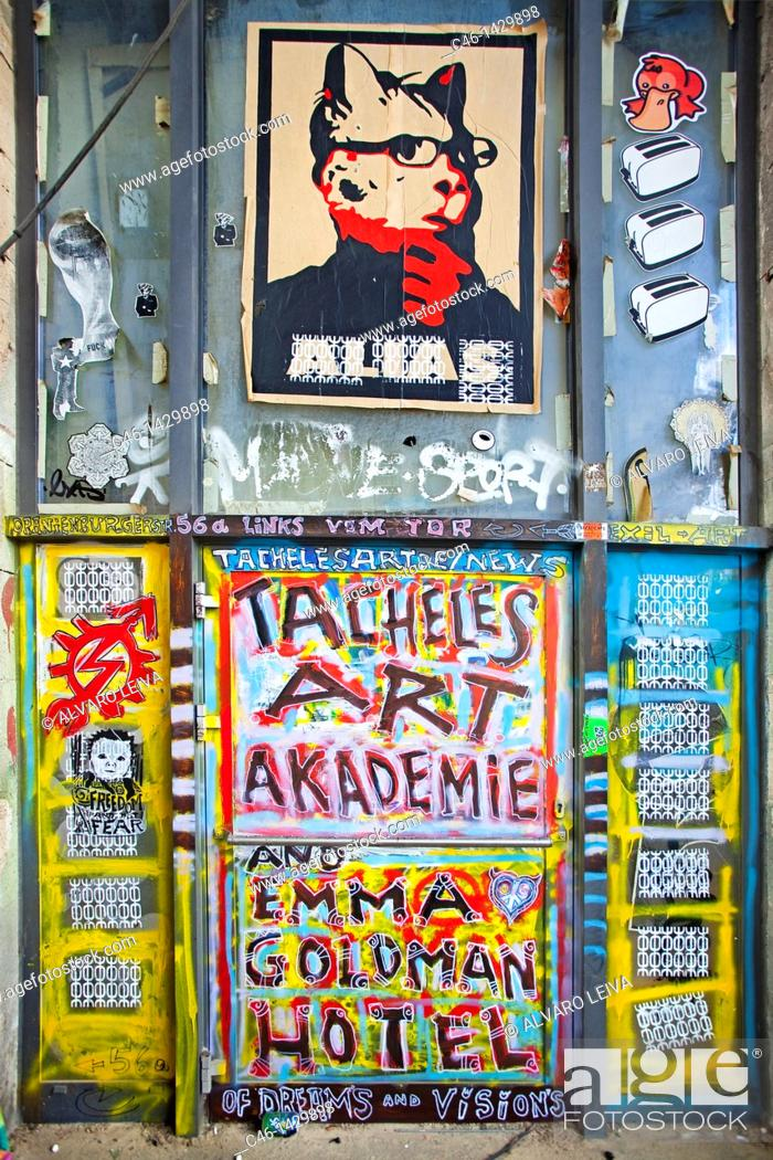 Stock Photo: Kunsthaus Tacheles, house for art, Oranienburger Road, Berlin, Germany.