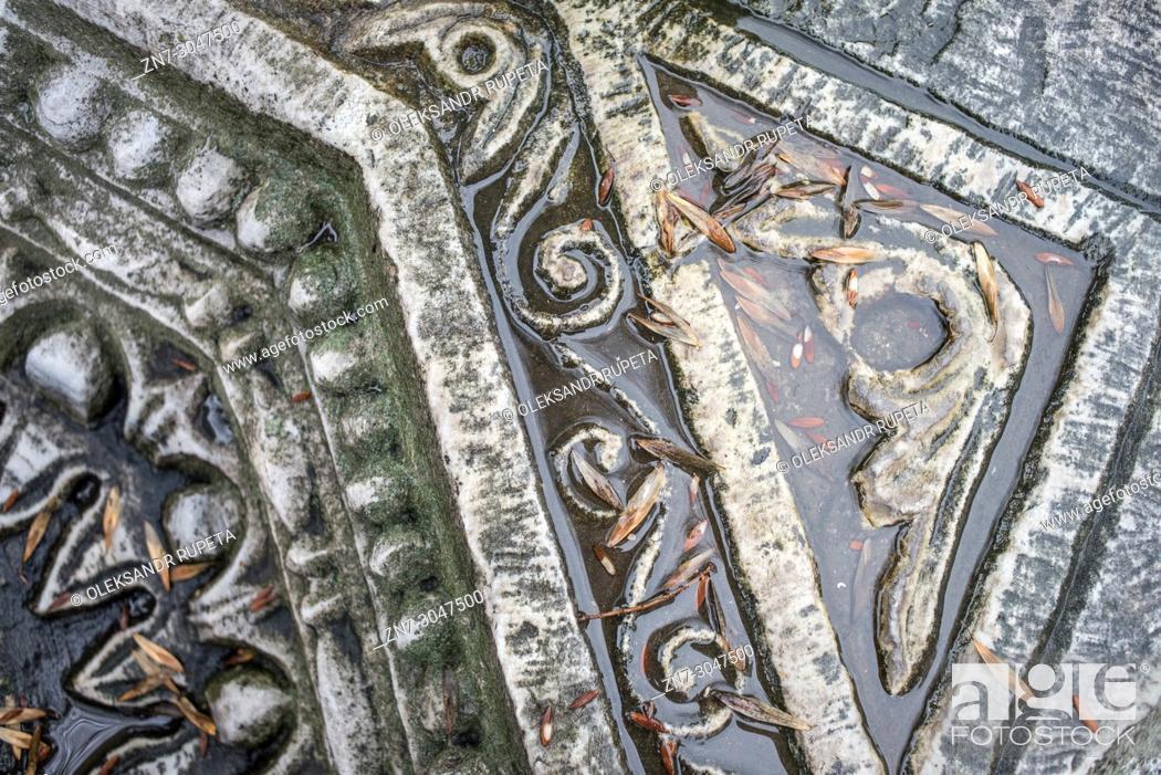 Stock Photo: Hagia Sophia, remains of the older basilica built under emperor Theodosius II, Istanbul, Turkey.