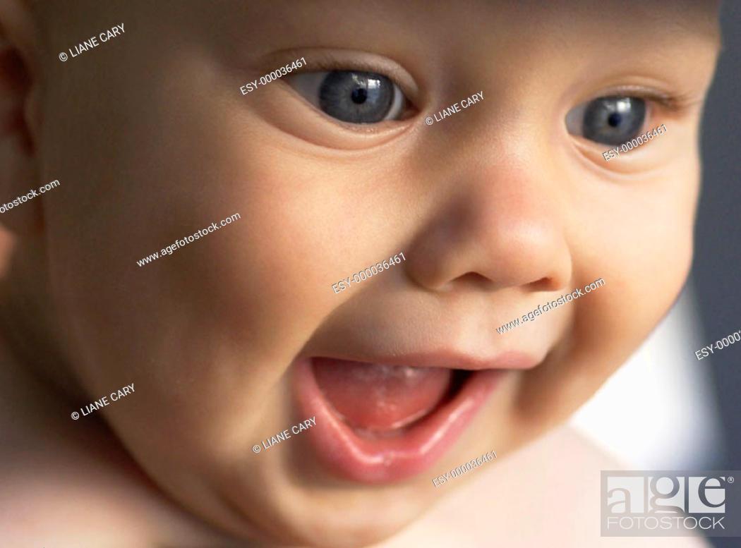 Stock Photo: excited baby.