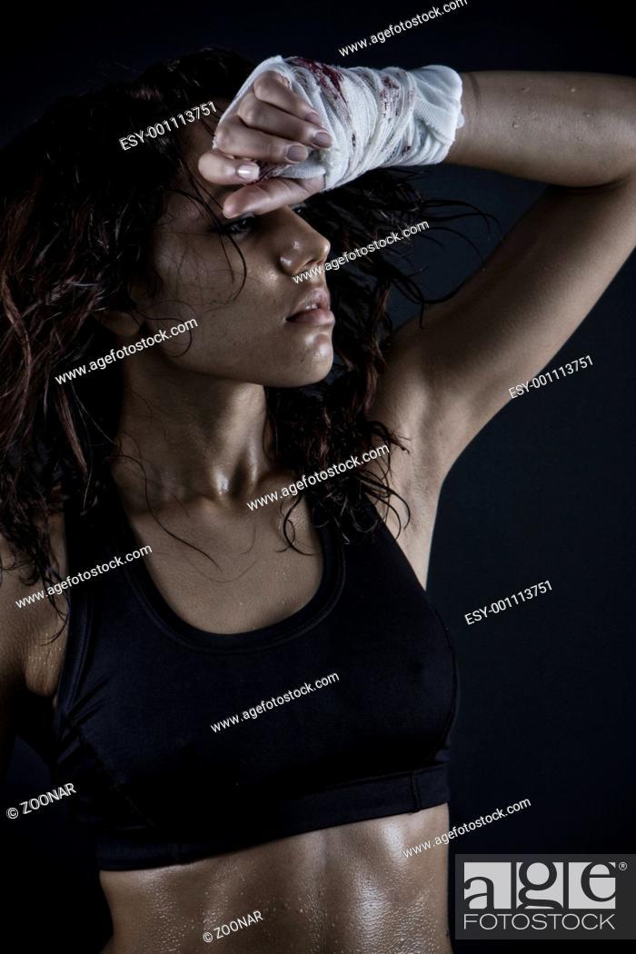 Stock Photo: beautiful fitness body.