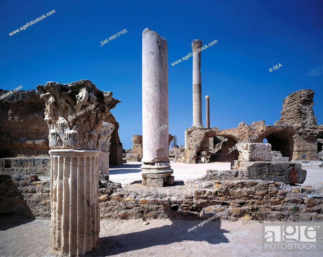 Stock Photo: Tunisia - Tunis Governatorate - Carthage, Roman archaeological site of ancient Karthago (UNESCO World Heritage List, 1979).