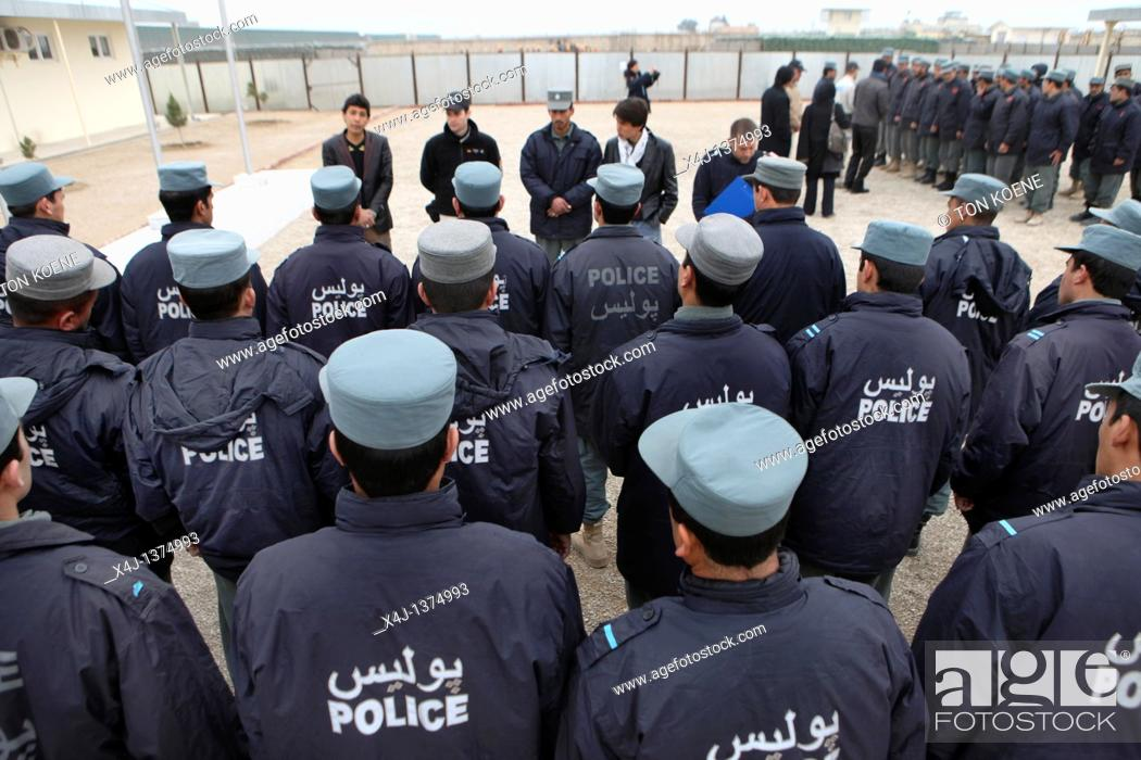 Stock Photo: Police training centre in Kunduz by German army.