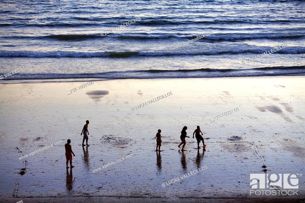 Stock Photo: Victoria beach Cádiz, Andalusia, Spain.