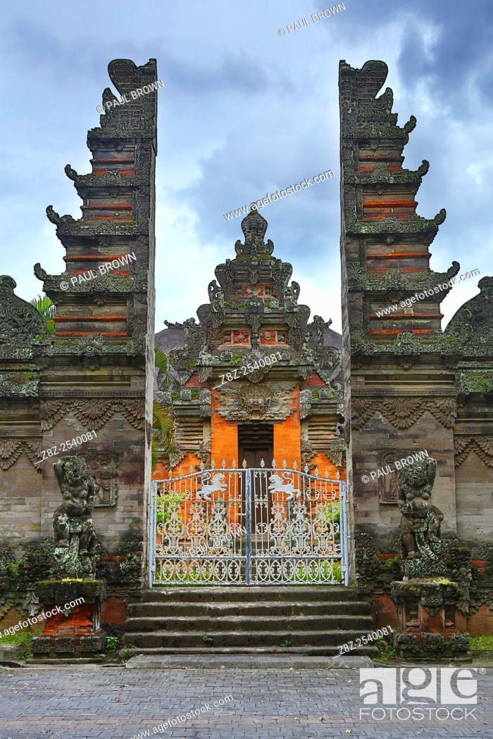 Stock Photo: Temple in the Bali Museum, Denpasar, Bali, Indonesia.