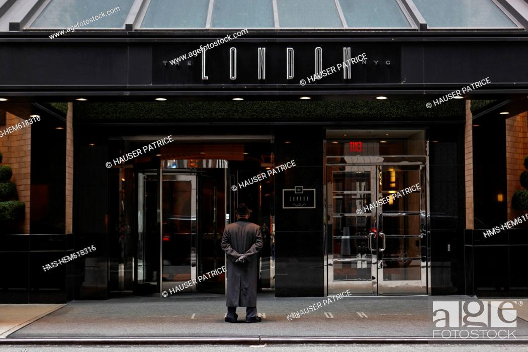 United States New York City Manhattan The London Nyc Hotel Doorman At The Entrance Stock Photo Picture And Rights Managed Image Pic Hms Hem618316 Agefotostock