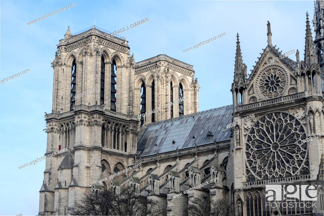 Stock Photo: FRANCE, Paris, Notre-Dame de Paris, .