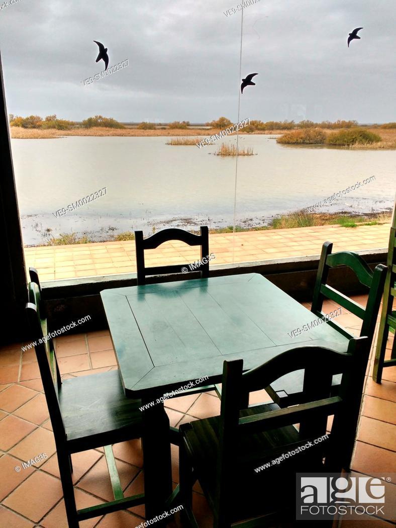 Stock Photo: José Antonio Valverde visitors centre, Doñana National Park, Huelva province, Andalusia, Spain.