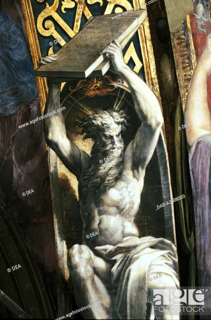 Stock Photo: Italy - Emilia Romagna Region - Parma - Church of Our Lady of the Steccata - Parmigianino - Moses - Fresco.