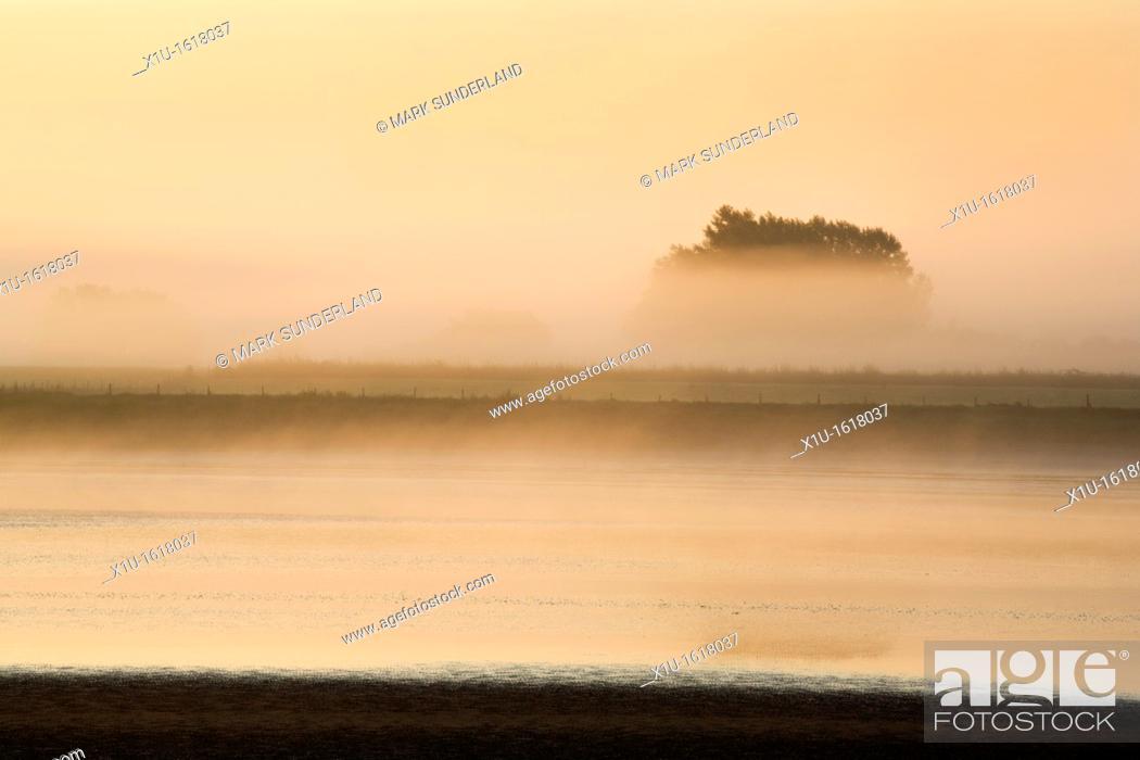 Stock Photo: Misty Morning at Newnham on Severn Gloucestershire England.