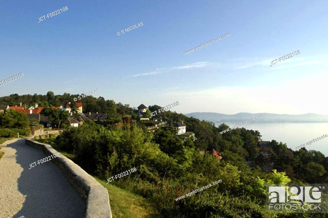 Stock Photo: Hungary, Lake Balaton, Tihany.