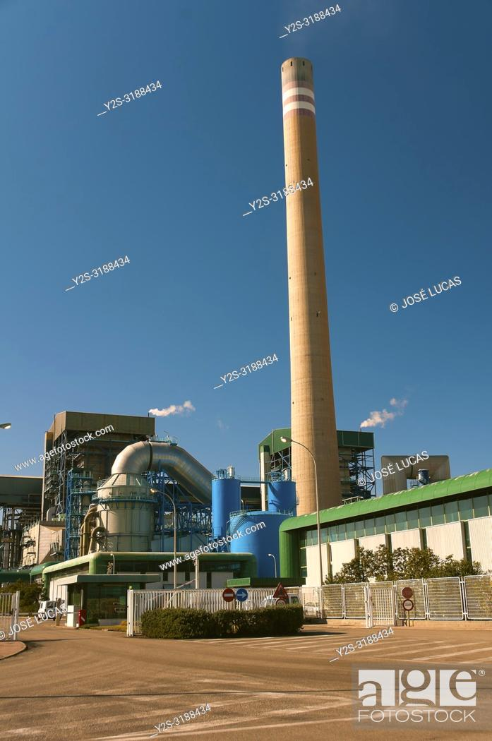 Stock Photo: Thermal power plant littoral. Carboneras. Almeria province. Region of Andalusia. Spain. Europe.