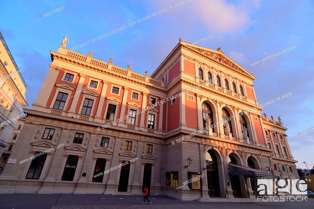 Stock Photo: Architecture; building; ancient architecture; historical; sky; cloud; street; road; sunlight; Austria; Vienna; outdoors; color image; nobody; horizontal; day;.