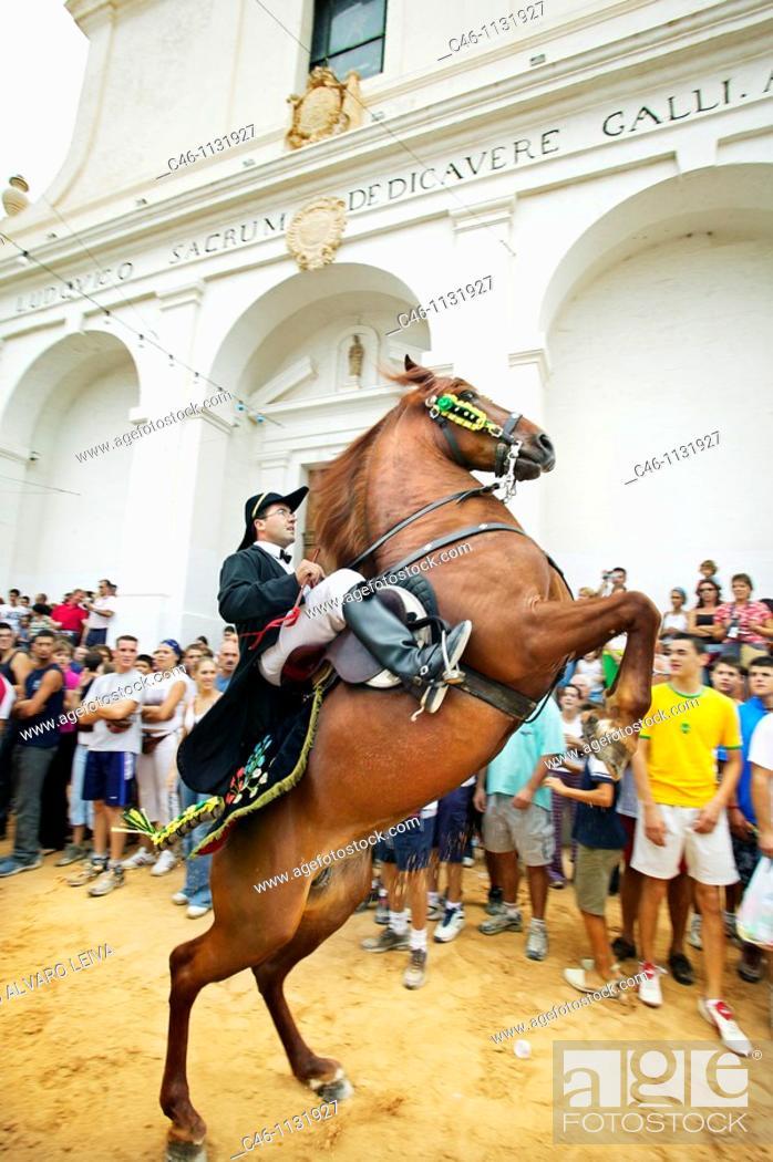 Stock Photo: 'Jaleo' typical festival, Sant Lluis, Menorca, Balearic Islands, Spain.