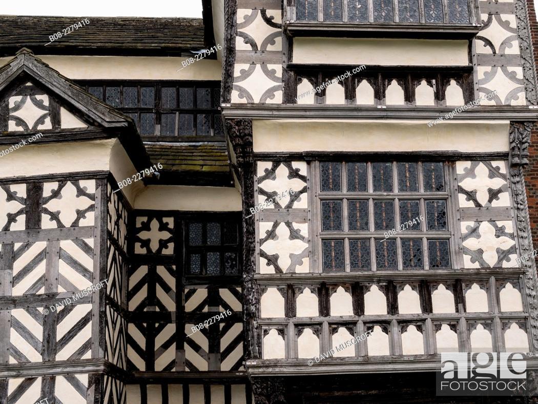 Stock Photo: Little Moreton Hall, Cheshire, UK.