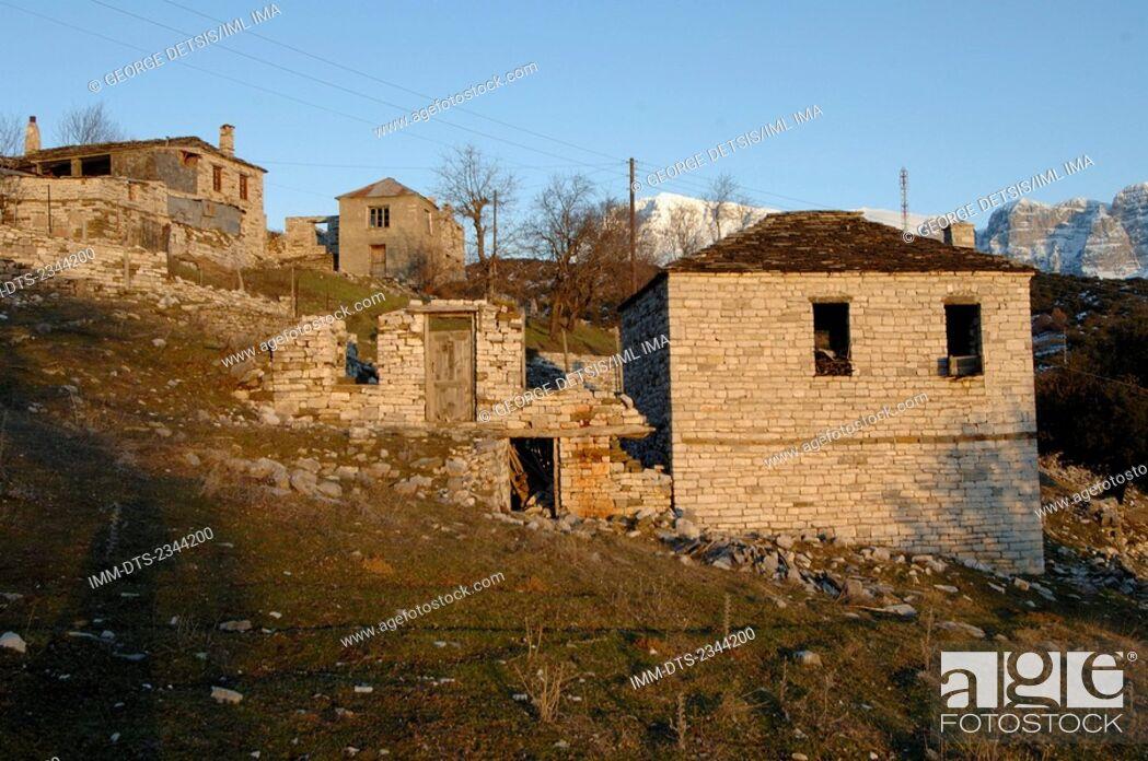Stock Photo: Ano Klidonia village. Ioannina, Epiros, Greece, Europe.