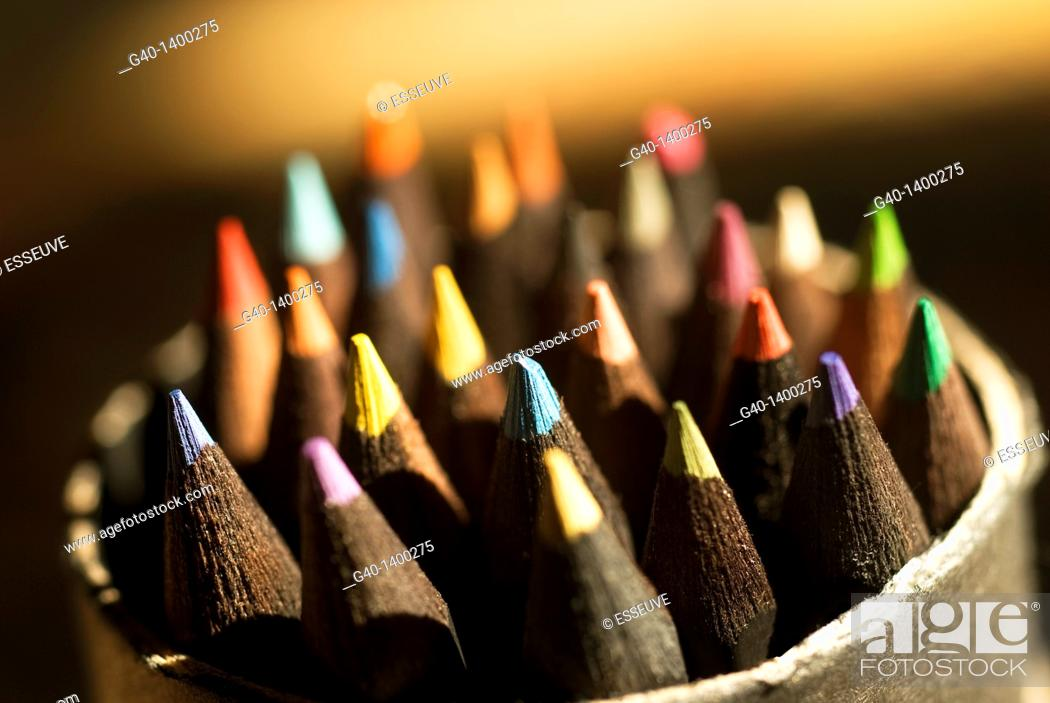 Stock Photo: Color pencils.