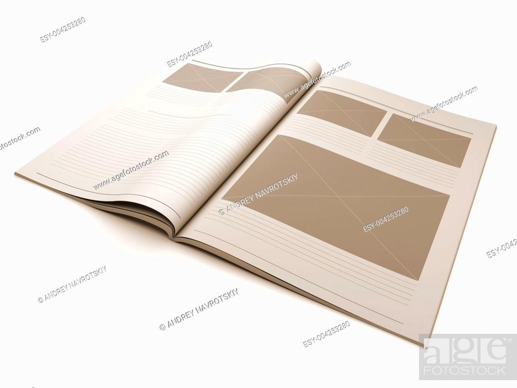 Stock Photo: Magazine blank page for design layout.