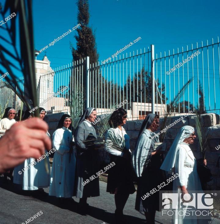 Imagen: Palmsonntag in Israel, 1970er Jahre. Palm Sunday in Israel, 1970s.