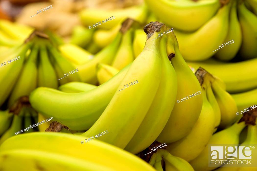 Stock Photo: Close up of bananas.