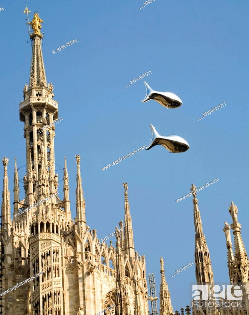 Stock Photo: Cathedral, Milan Italy.