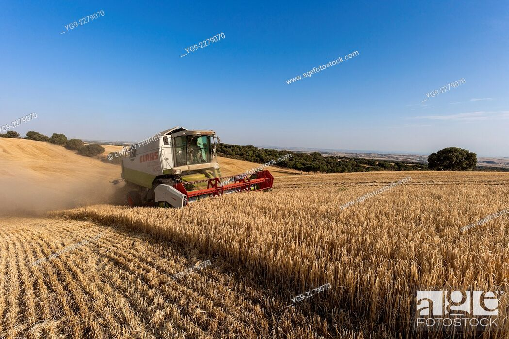 Stock Photo: Combine harvester.