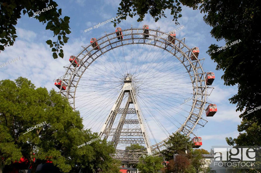 Stock Photo: Riesenrad (giant ferris wheel), the Prater, Vienna. Austria.
