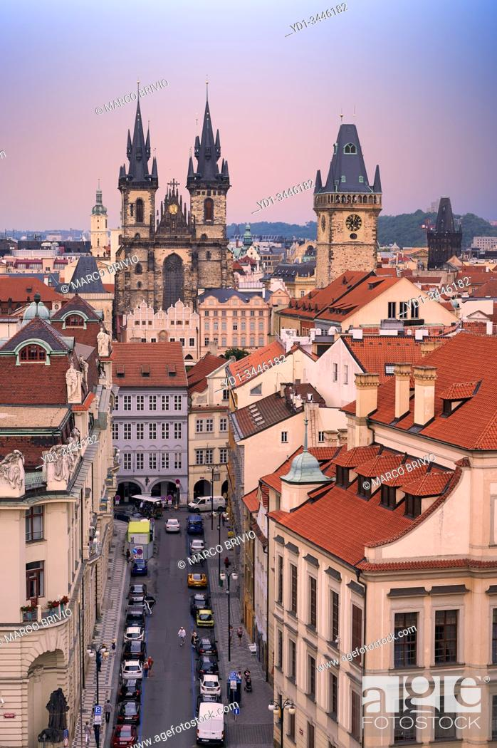 Stock Photo: Prague Czech Republic. View on the old town at sunset.