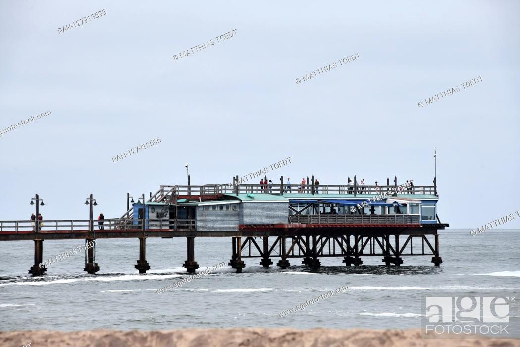 Stock Photo: Viewing platform and cafe at the end of the Seebruecke in Swakopmund, taken on 02.03.2019. Photo: Matthias Toedt / dpa-Zentralbild / ZB / Picture Alliance |.