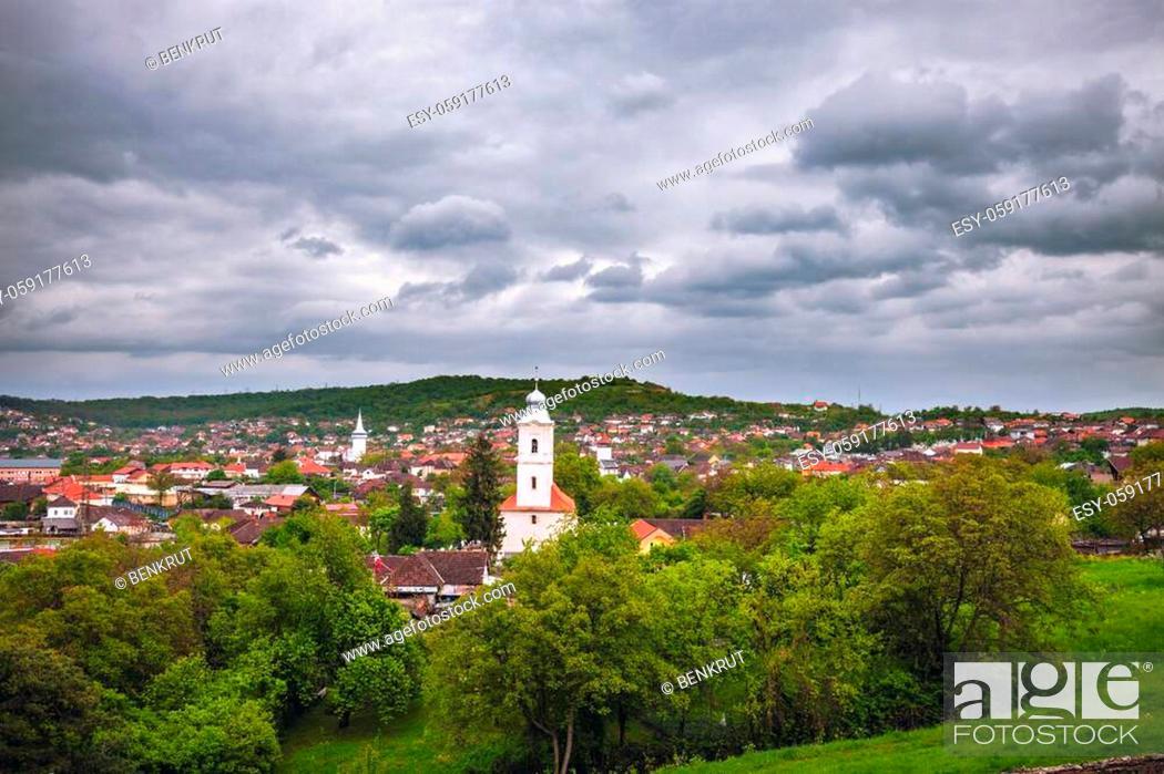 Stock Photo: Corvin Castle in Hunedoara. Hunedoara, Hunedoara County, Romania.