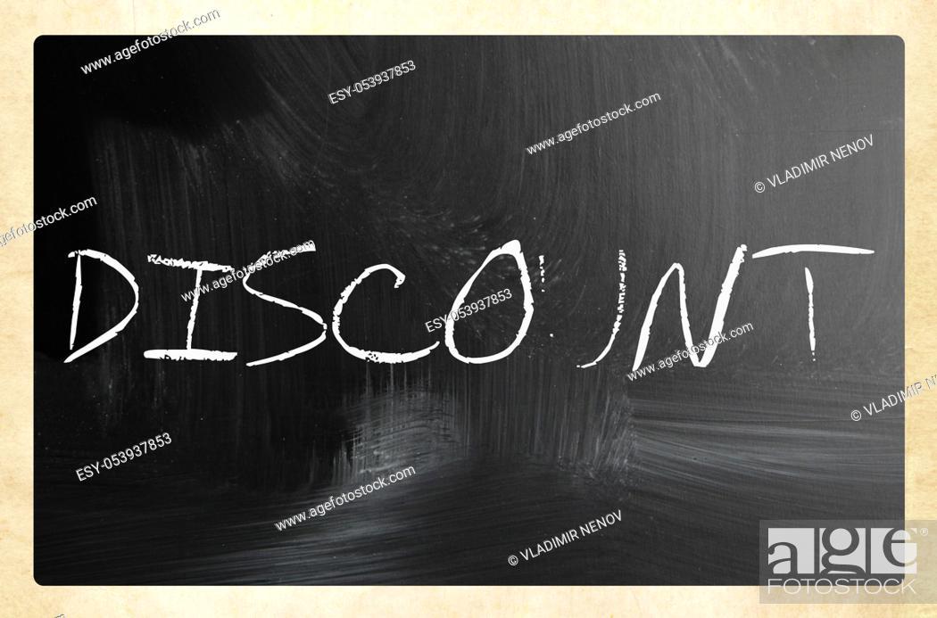 Stock Photo: text handwritten with white chalk on a blackboard.