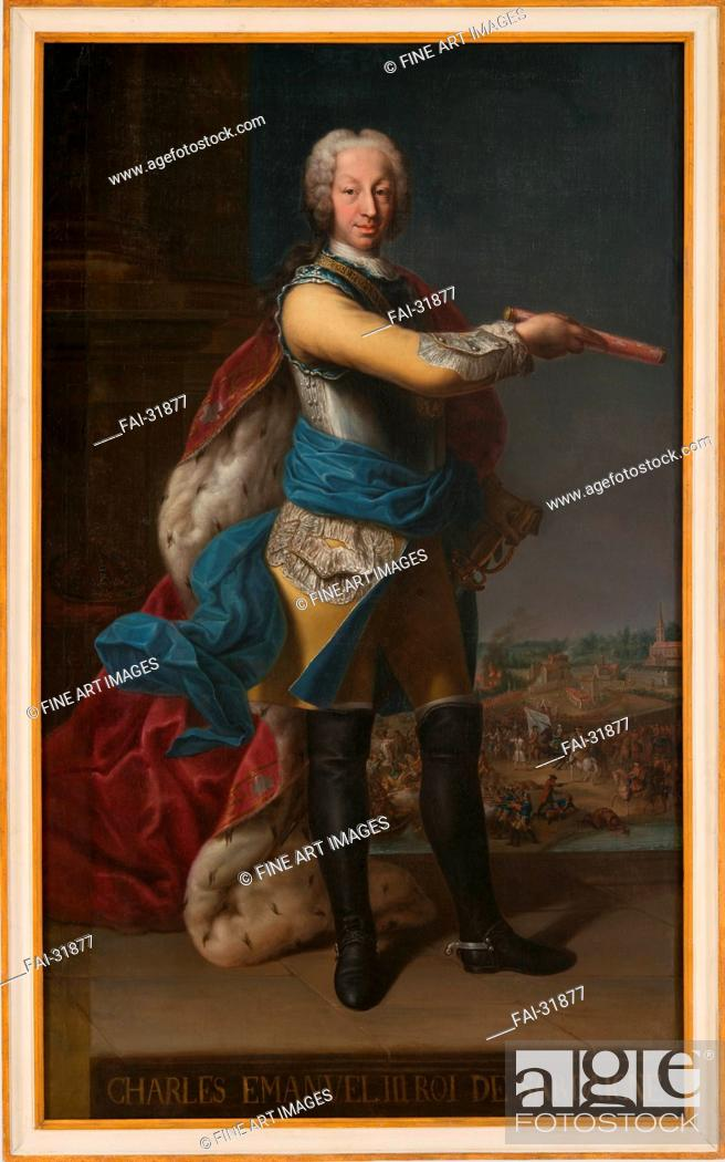 Stock Photo: Charles Emmanuel III (1701-1773), Duke of Savoy and King of Sardinia by Anonymous /Oil on canvas/Rococo/18th century/Italy/Reggia di Venaria.