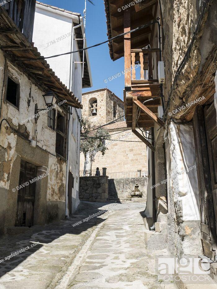 Imagen: Popular architecture. Valverde de la Vera. Cáceres. Extremadura. Spain.
