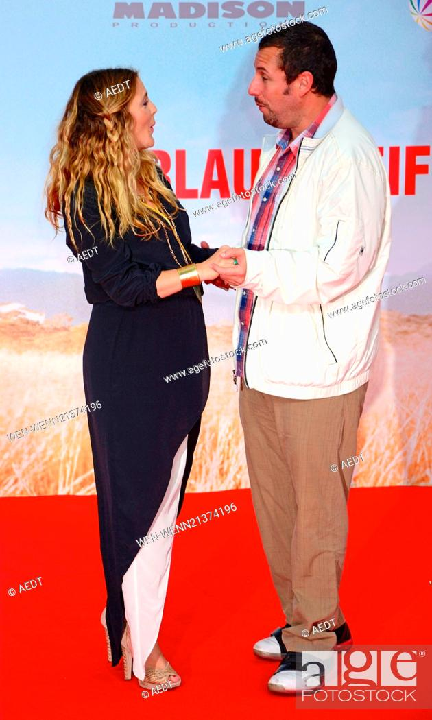 Drew Barrymore and Adam Sandler at the world premiere of