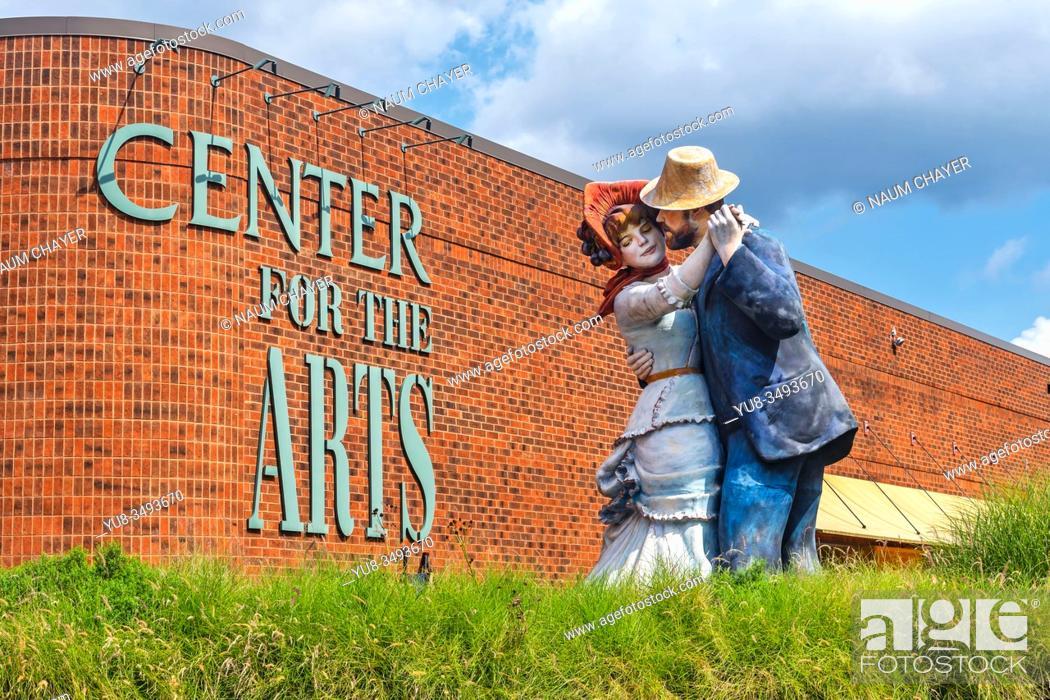 Stock Photo: Grounds For Sculpture , sculpture park and museum , Hamilton, NJ, USA.