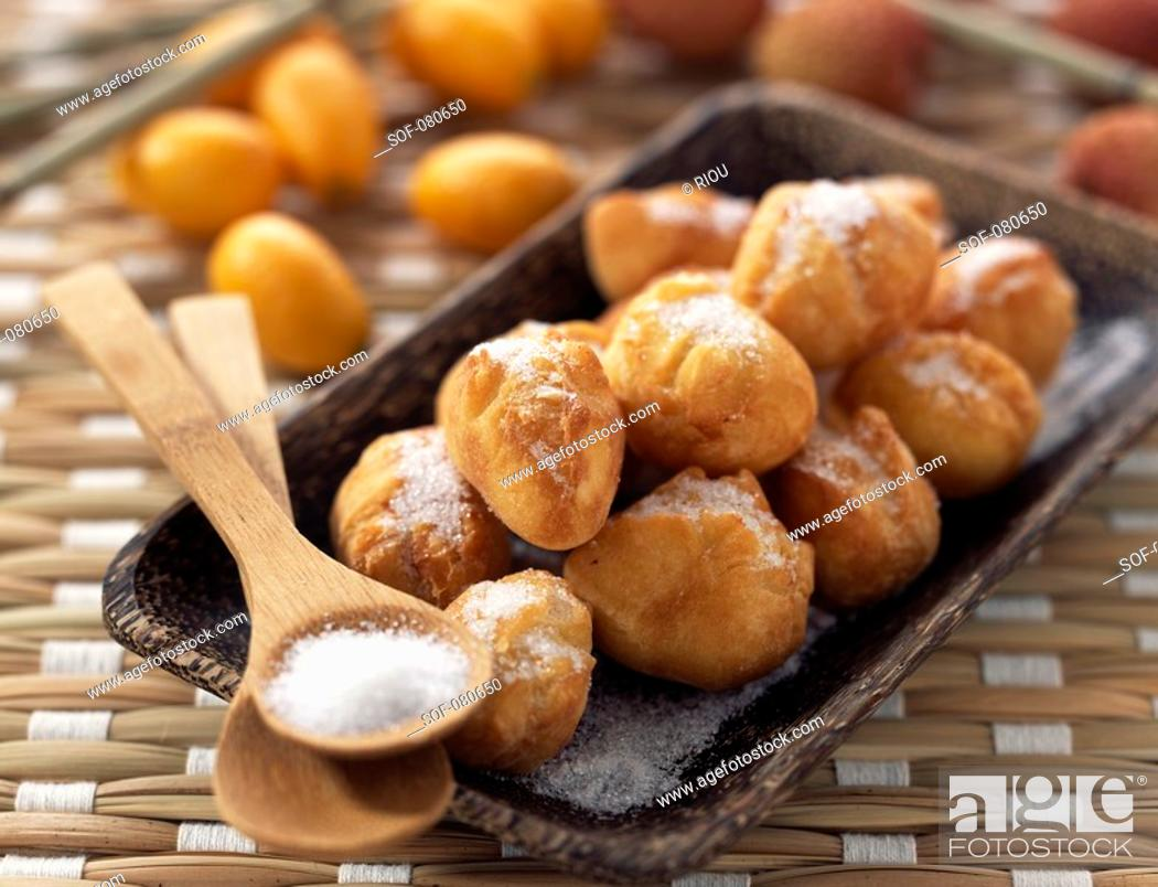 Stock Photo: Pineapple doughnuts.
