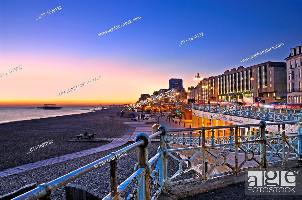 Stock Photo: Brighton Pier, Brighton, England, UK,.