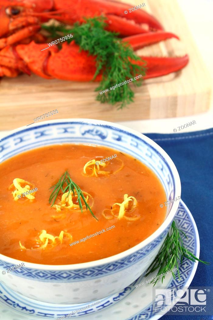 Stock Photo: fresh Asian lobster bisque.