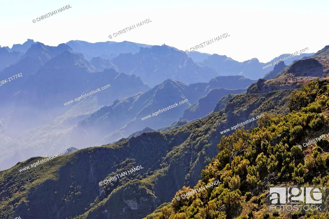 Stock Photo View From The Summit Of Pico Ruivo Do Paul To East