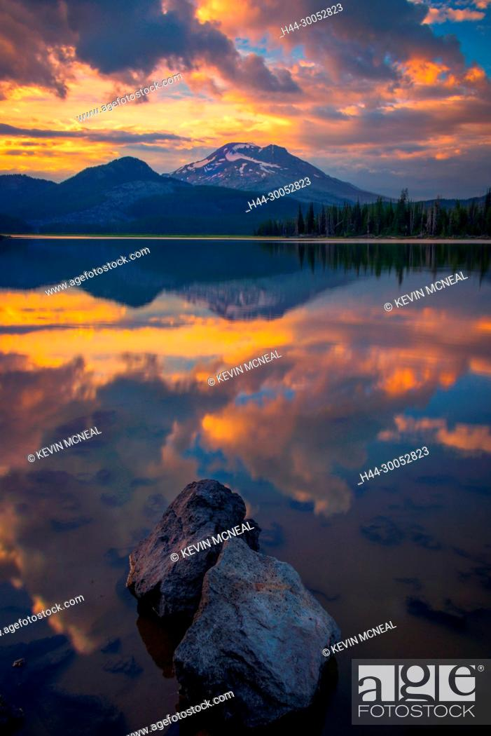 Stock Photo: Images from Sparks Lake in the Deschutes National Forest near Bend, Oregon.