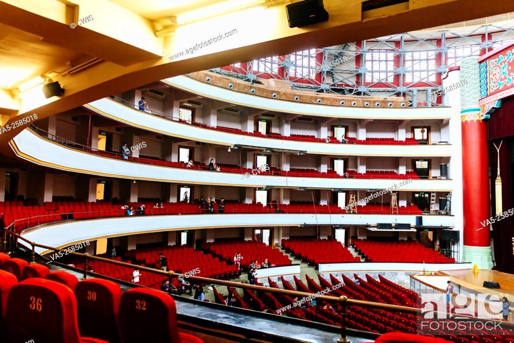 Stock Photo: Chongqing, China - Interior view of Chongqing People's Great Hall.