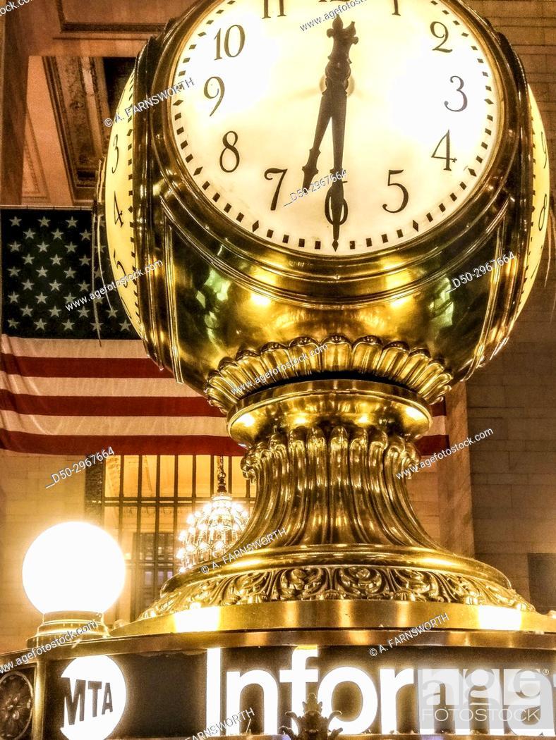 Imagen: New York, NY The clock at Grand Central Terminal.