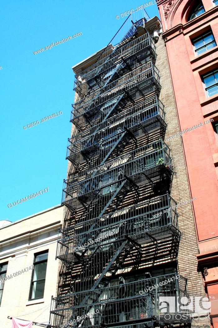 Stock Photo: Neighborhood Soho, Manhattan, New York, United States, North America.