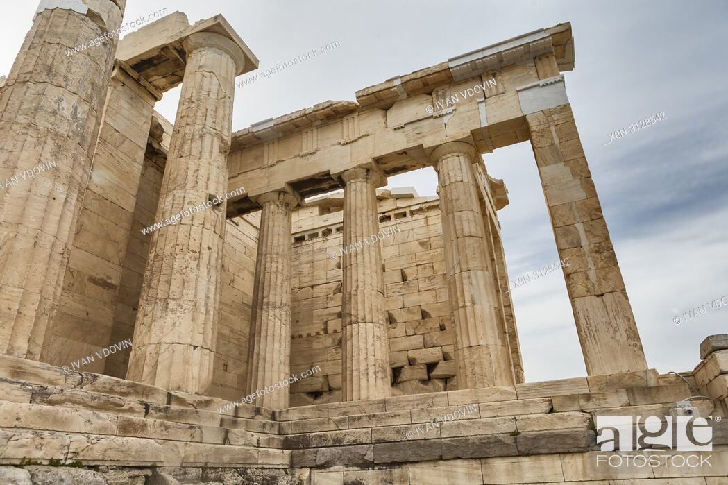 Stock Photo: Temple of Athena Nike, Nika Apteros (420 BC), Athens, Greece.