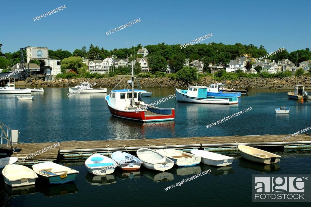 Stock Photo: Manchester-by-the-Sea, MA, Massachusetts, Massachusetts Bay.