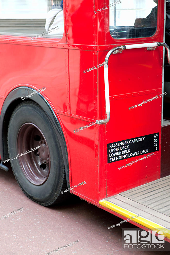 Stock Photo: Red bus, London.
