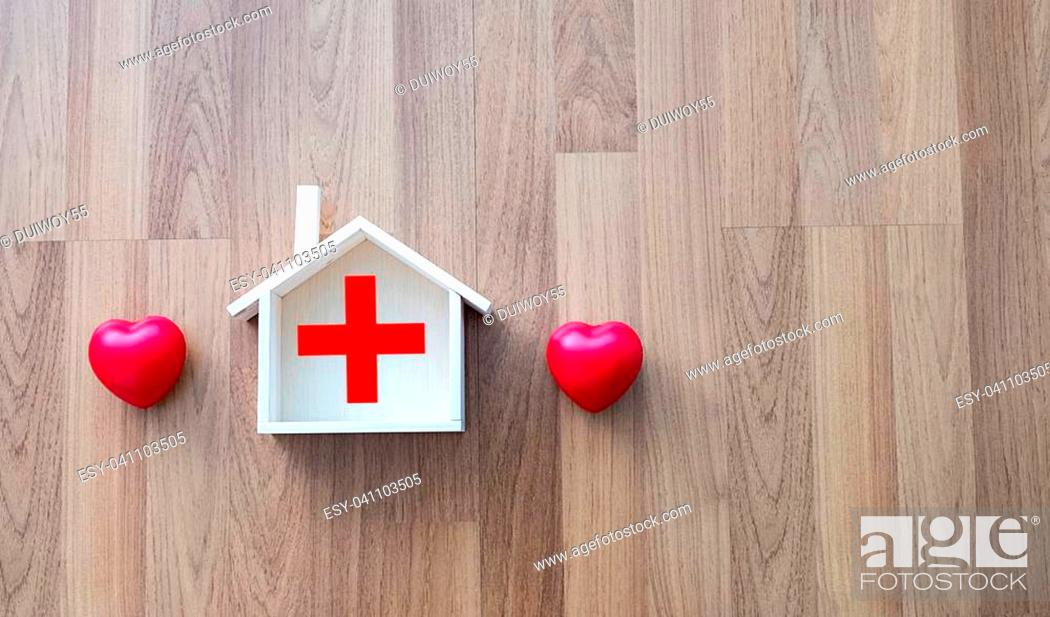 Stock Photo: Home health sweet home health care and medicine.