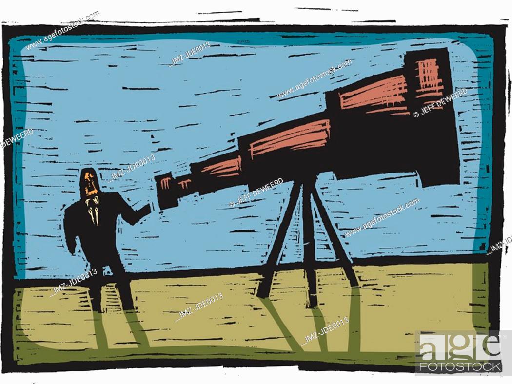 Stock Photo: telescope.