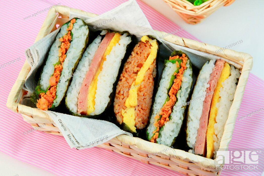 Imagen: Rice Sandwiches.